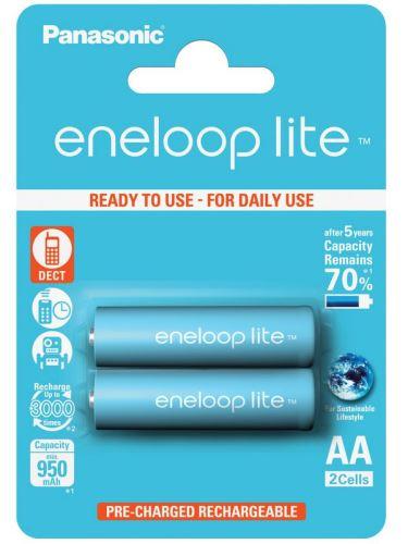 Baterie Panasonic Eneloop lite BK-3LCCE/2BE, AA, 950mAh, (blistr 2ks)
