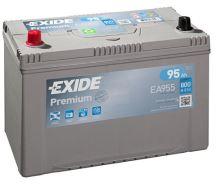 Autobaterie EXIDE Premium Carbon Boost, 12V, 95Ah, 800A, EA955 - Levá