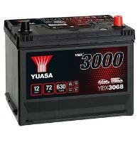 Autobaterie Yuasa YBX3000, 72Ah, 12V, 630A (YBX3068) - Japan Pravá s patkou