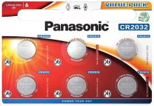 Baterie Panasonic CR2032, Lithium, 3V, (Blistr 6ks)