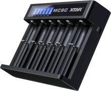 Nabíječka Xtar MC6C, USB, LCD, pro Li-Ion 18650, šesti kanálová