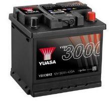 Autobaterie Yuasa YBX3000, 50Ah, 12V, 420A (YBX3012)