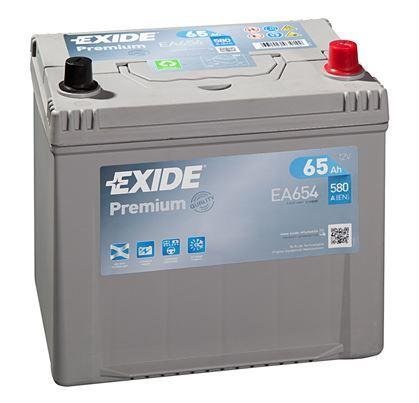 Autobaterie EXIDE Premium, 12V, 65Ah, 580A, EA654, Carbon Boost