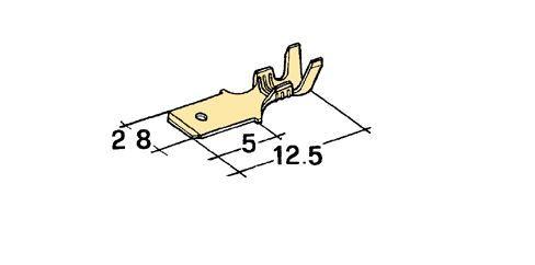 Konektor 2,8mm 0,5-1mm kolík