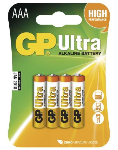 Baterie GP 24AU Ultra Alkaline, R03, AAA, (Blistr 4ks)