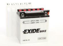 Motobaterie EXIDE BIKE Conventional, 12V, 11Ah, 130A, YB10L-B