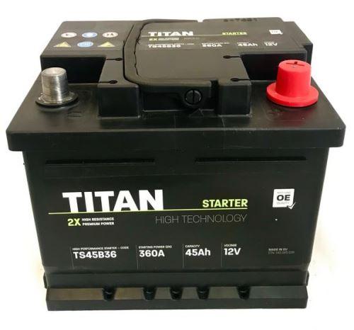 Autobaterie TITAN, 45Ah, 12V, 360A