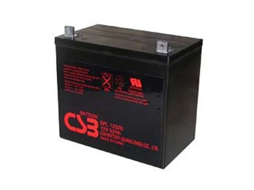 Akumulátor (baterie) CSB GPL12520, 12V, 52Ah, závit M6