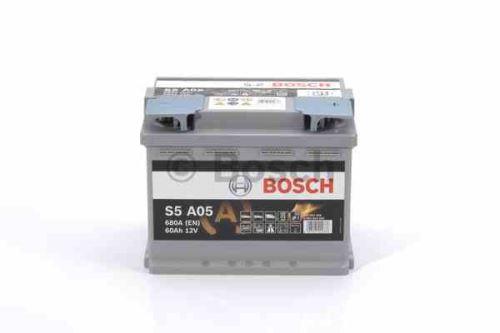 Autobaterie BOSCH S5A 050 Start Stop AGM, 60Ah, 12V, 680A, 0 092 S5A 050