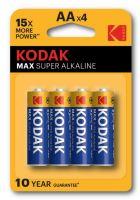 Baterie Kodak Max LR6, AA, Alkaline, (Blistr 4ks)