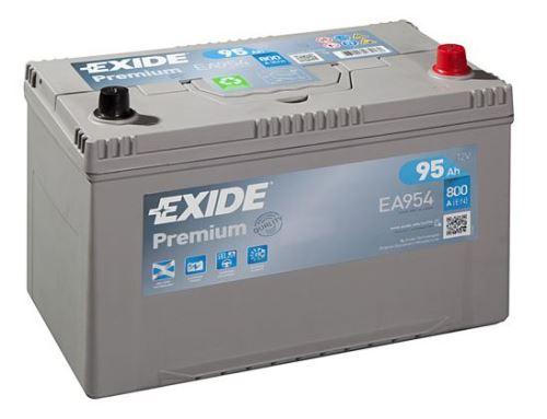 Autobaterie EXIDE Premium, 12V, 95Ah, 800A, EA954, Carbon Boost