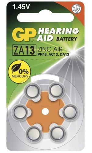 Baterie GP ZA13, PR48, AC13, DA13 do naslouchadel (Blistr 6ks)