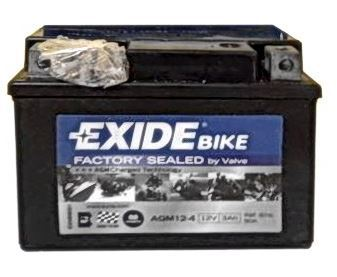 Motobaterie EXIDE BIKE Factory Sealed 3Ah, 12V, 50A, AGM12-4