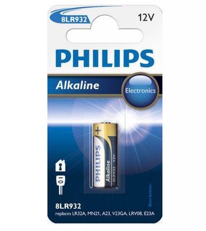 Baterie Philips 23AE, LRV08, 23A, Alkaline, 12V, (Blistr 1ks)
