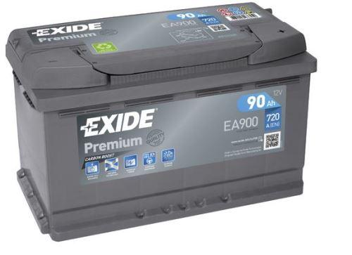 Autobaterie EXIDE Premium, Carbon Boost, 12V, 90Ah, 720A, EA900