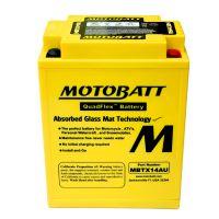 Motobaterie Motobatt MBTX14AU, 12V, 16,5Ah, 190A (YB14L-A2, 12N14-3A)