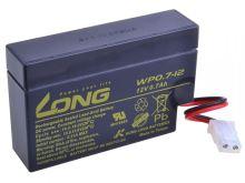 Baterie Long 12V, 0,7Ah olověný akumulátor AMP