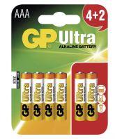 Baterie GP 24AU Ultra Alkaline, R03, AAA, (Blistr 6ks)