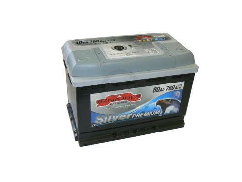 Autobaterie Sznajder Silver Premium 80Ah, 12V, startovací proud 760A, 58035