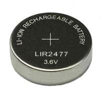 Knoflíkový akumulátor LIR2477, 3,6V, Li-Ion, nabíjecí, (Blistr 1ks)