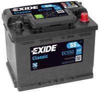 Autobaterie EXIDE Classic 12V, 55Ah, 460A, EC550