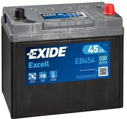 Autobaterie EXIDE Excell 12V, 45Ah, 300A, EB454