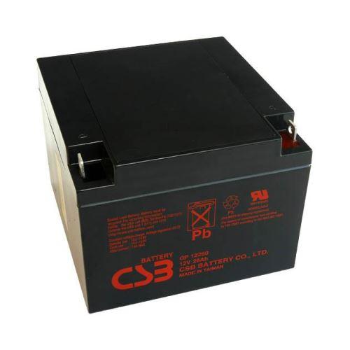 Akumulátor (baterie) CSB GP12260, 12V, 26Ah, závit M5