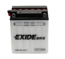 Motobaterie EXIDE BIKE Conventional 12V, 12Ah, 110A, 12N12A-4A-1